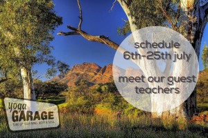Yoga Garage July Schedule. Join our exciting guest teachers and expand your yoga practice
