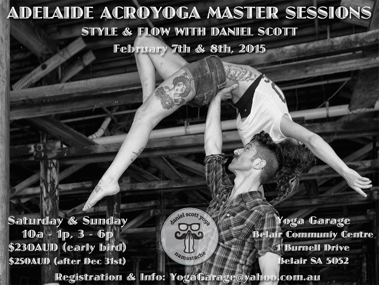 Adelaide AcroYoga Community hosts Daniel Scott at YOGA GARAGE